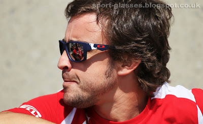 Fernando Alonso at Canadian GP 2012 in Matt Navy Oakley Jupiter Squared