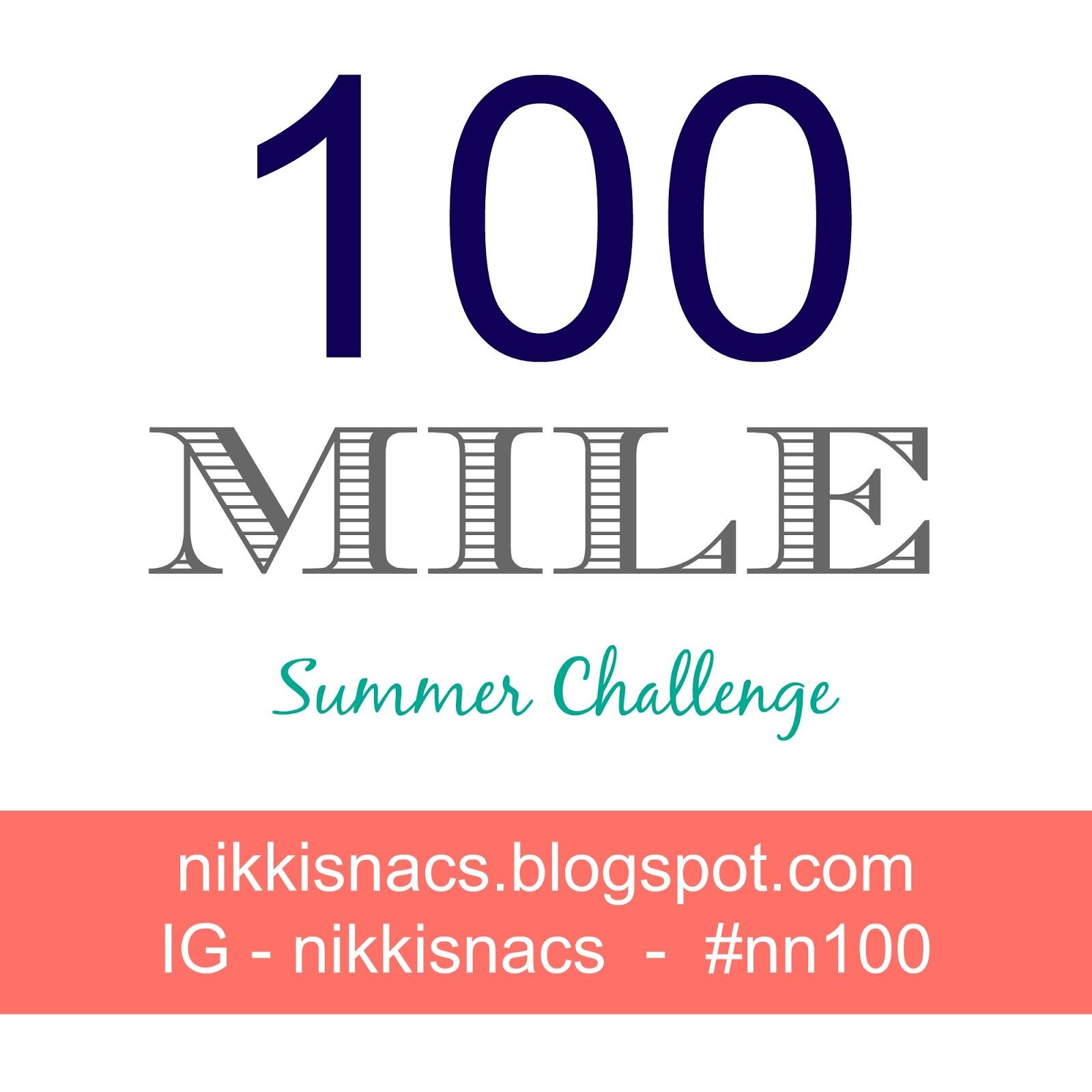 http://nikkisnacs.blogspot.com/2014/06/100-mile-challenge.html