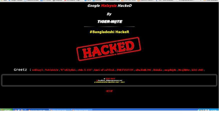 Google Malaysia hacked by Bangladeshi hackers