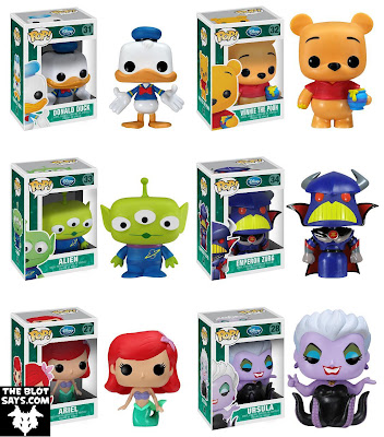 Disney Pop! Vinyl Figures Wave 3 by Funko - Donald Duck, Winnie the Pooh, Alien, Emperor Zurg, Arial & Ursala