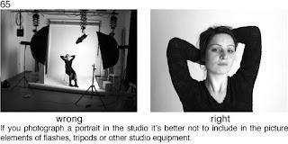 Совет 65. При портретной съемке в студии необходимо убрать из кадра все лишние студийные предметы: лампы подсветки, зонты, задний фон студии
