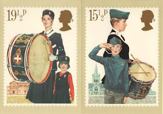 Girls Brigade and Boys Brigade stamp postcards
