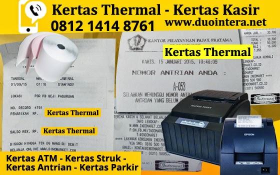 Kertas Thermal jakarta - Kertas ATM - Kertas Thermal 80x80