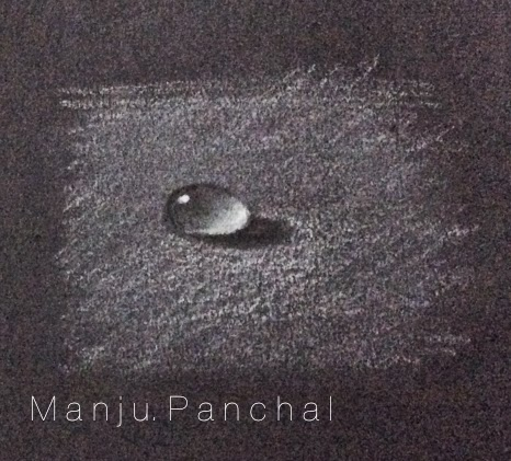 paiinting of water drop by manju panchal