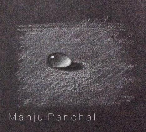 paiinting of water drop by manju panchal