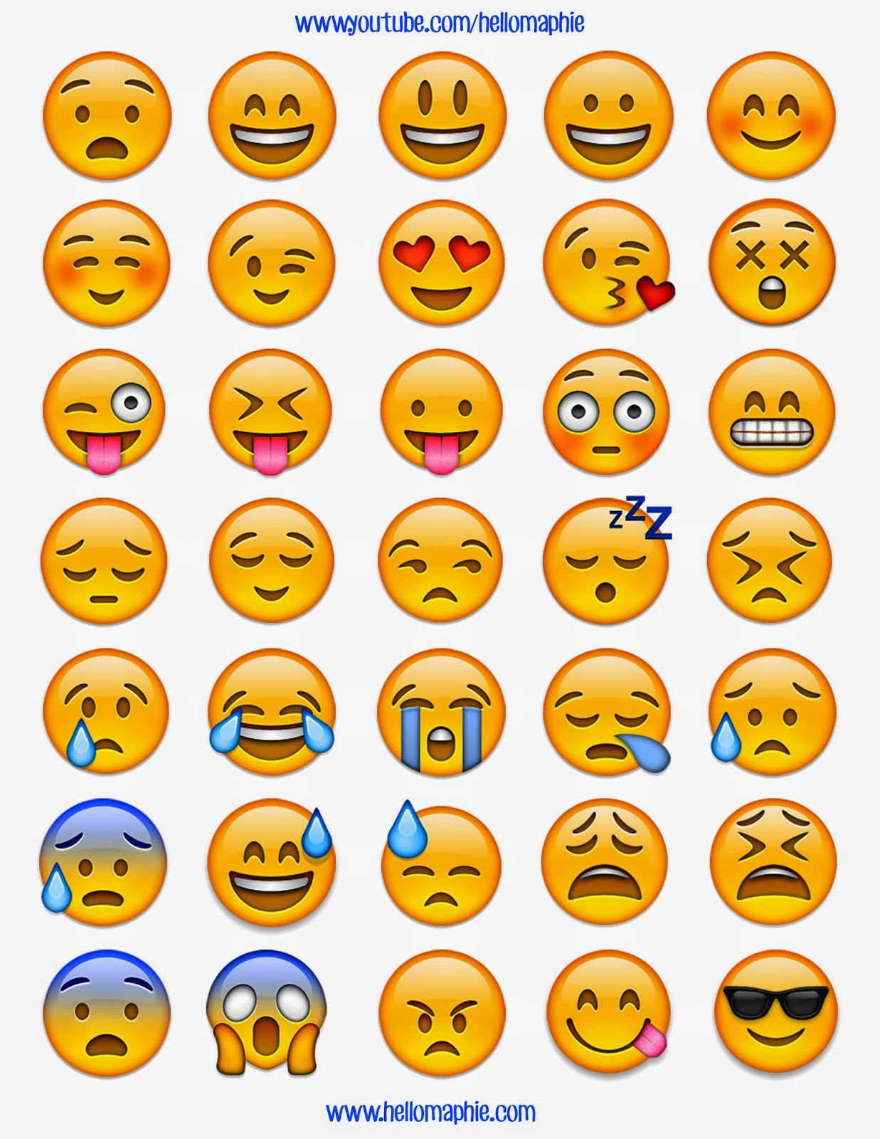 Lucrative image for emojis printable