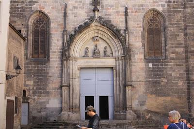 Gothic doorway of Sant Just i Pastor church