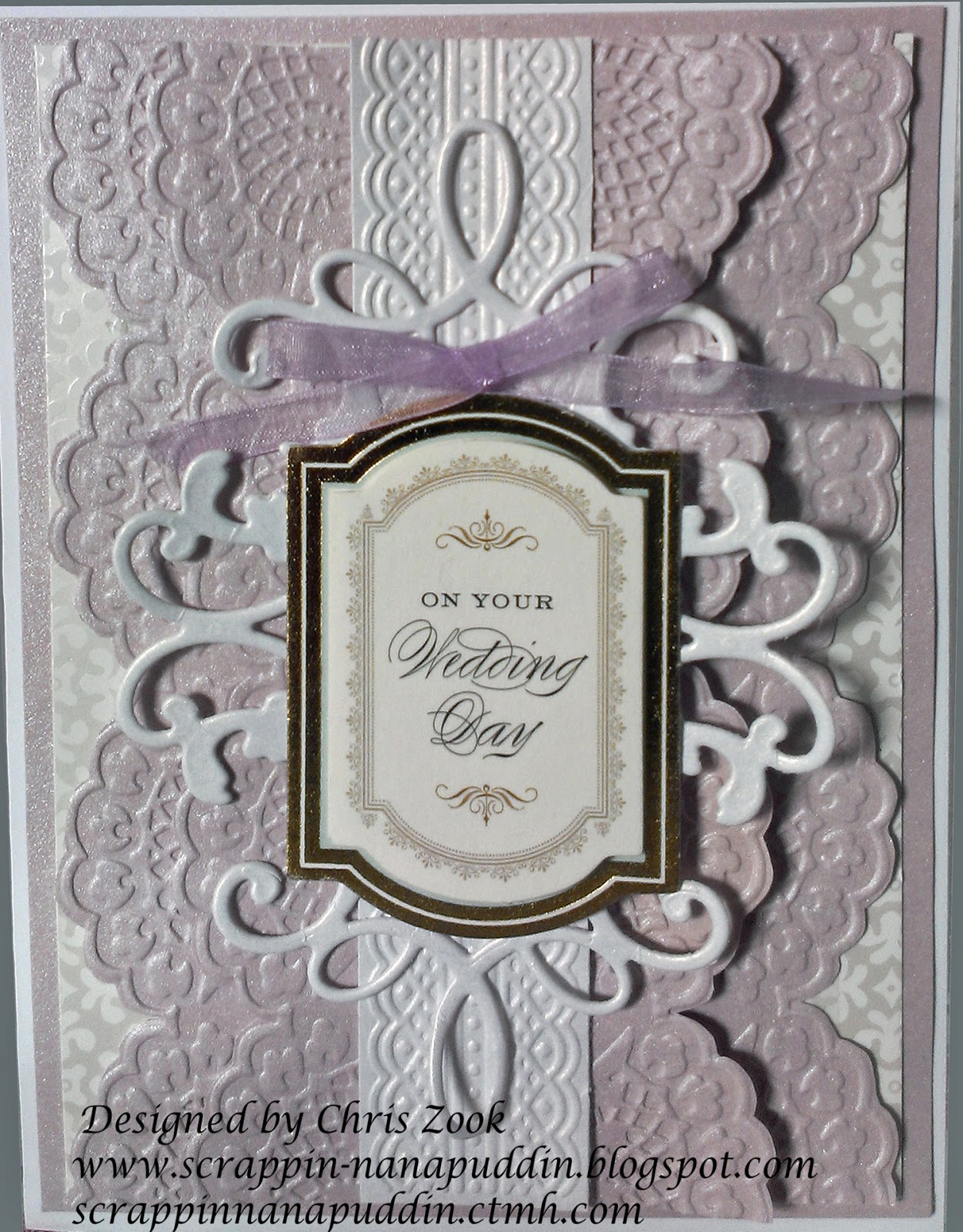 Scrappin\' Nanapuddin: Another Anna Griffin card - Wedding this time!