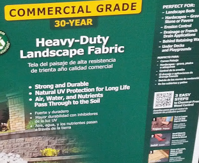 For a beautiful looking lawn use Dalen Pro-Shield Heavy Duty Landscape Fabric