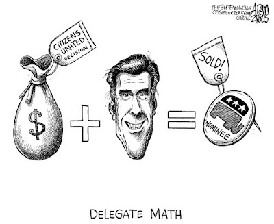 Romney political cartoon