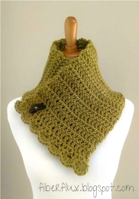 Fiber Flux: Free Crochet Pattern...Lemon Balm Button Cowl