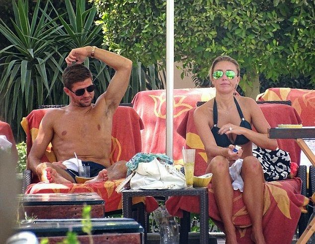 It's the time of middle year when most WAGs find themselves being taken away on luxurious holiday just before pre-season training starts. So Alex Curran and husband, Steven Gerrard decided to put on health life as they enjoyed a romantic day in the United Arab Emirates on Tuesday, September 9, 2014.