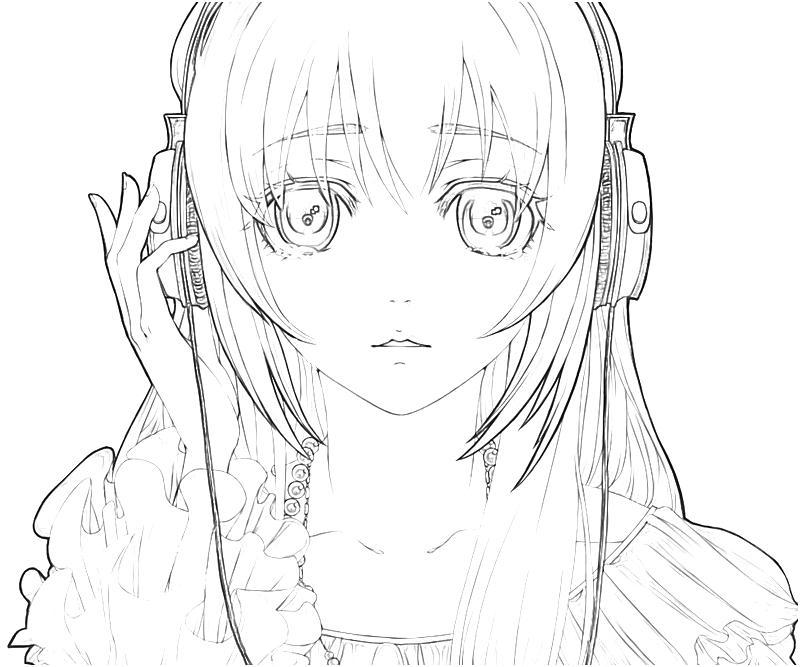 printable-hatsune-miku-project-megurine-luka-sad-coloring-pages