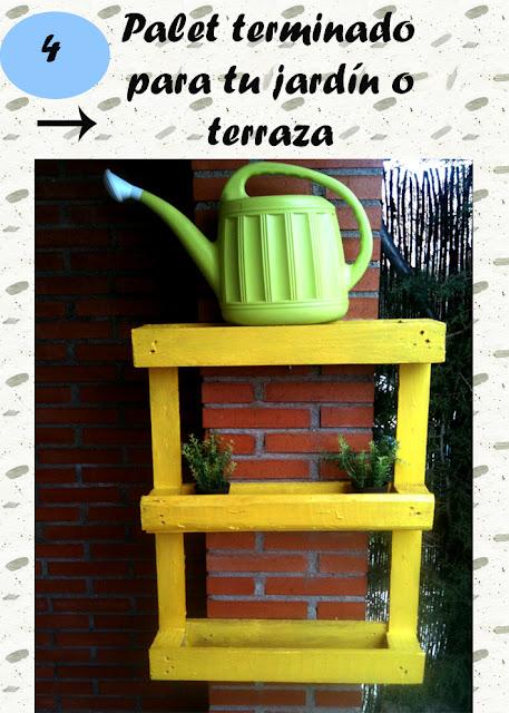 Pasos para reciclar un mueble con palets para decorar jardín o terraza