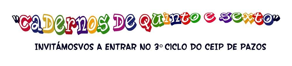 CADERNOS DE QUINTO E SEXTO