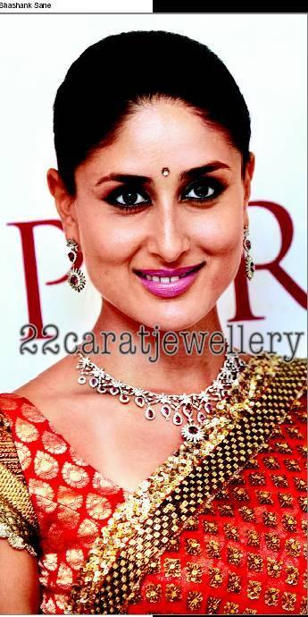 Kareena kapoor in Ruby Studded Diamond Necklace ...
