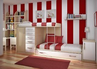 paredes listradas em quarto