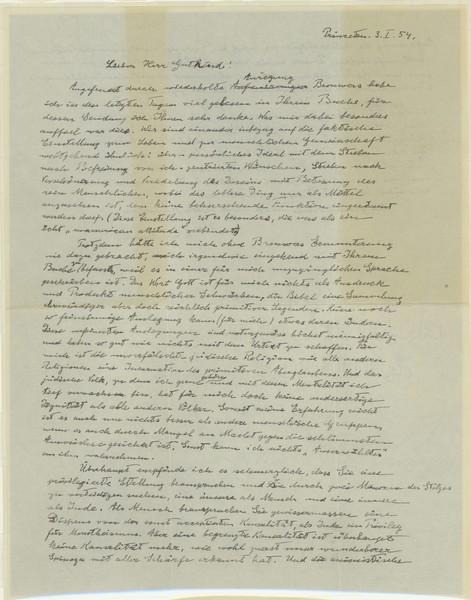 SURAT yang mengandungi tulisan tangan Einstein.