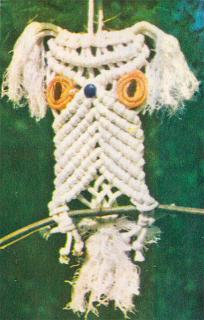 Плетение совы в макраме (второй способ). Схема плетения совы.