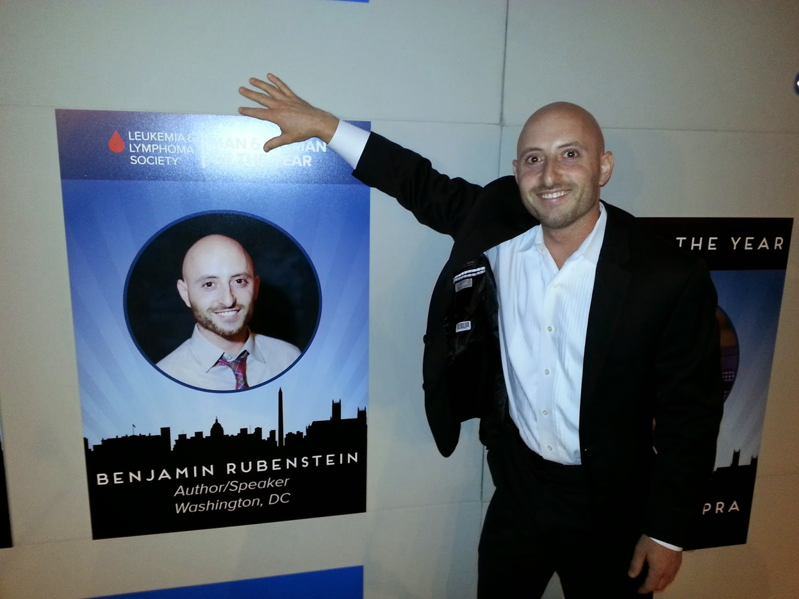 Benjamin Rubenstein meeting himself as a candidate for Man & Woman of the Year