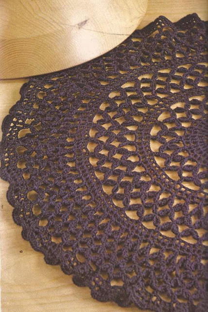 Tapete Azul a Crochet o Ganchillo