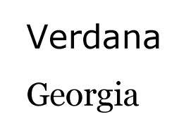 georgia y verdana