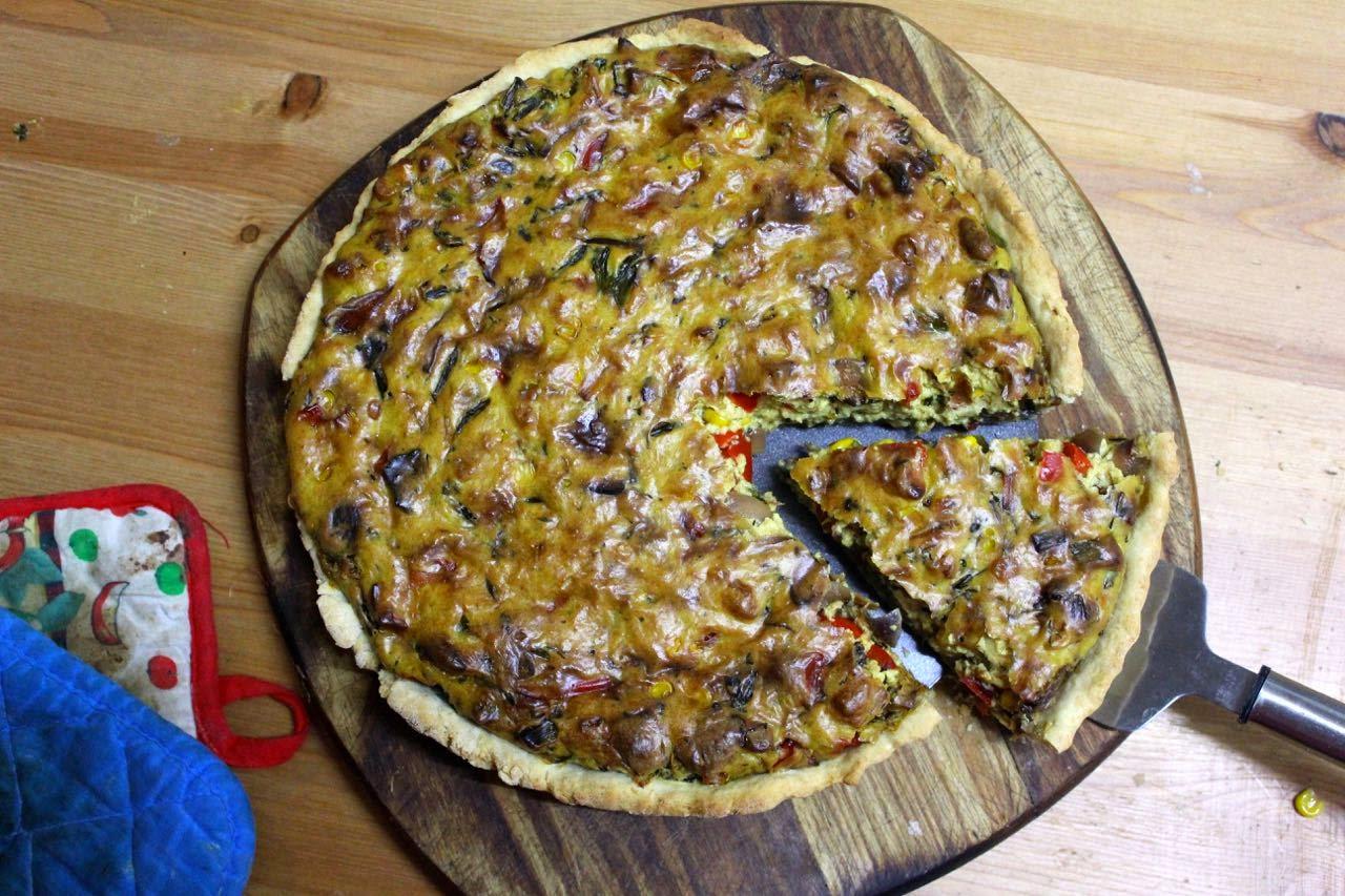 Green Gourmet Giraffe: Vegan quiche with tofu and besan