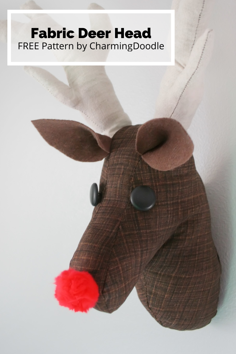 Sewing Tutorial Make A Fabric Deer Head Or Rudolph
