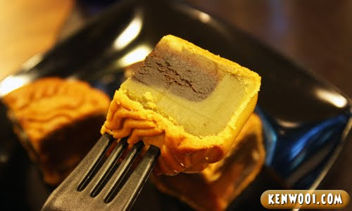 starbucks mooncake green tea wedge