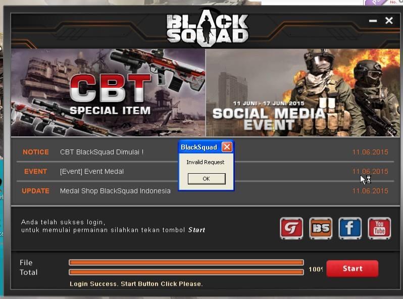Solusi Error Login Invalid Request Black Squad Indonesia
