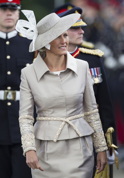 The Countess of Wessex attends the Sovereign's Parade at the Royal Military Academy in Sandhurs