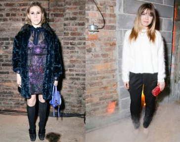 Celebrities at Cynthia Rowley F/W 2015