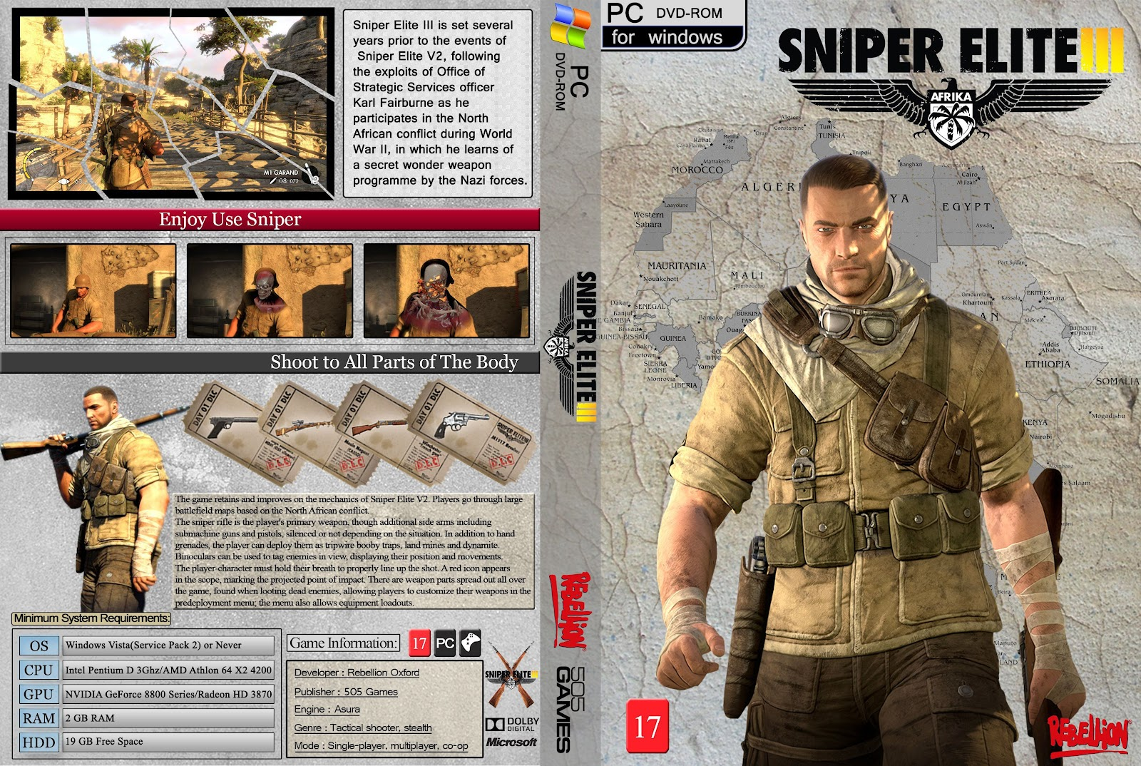 Capa Sniper Elite 3 PC