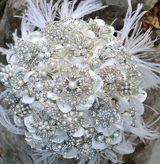 Bridal Bouquet Brooches : Louisville wedding the local ky