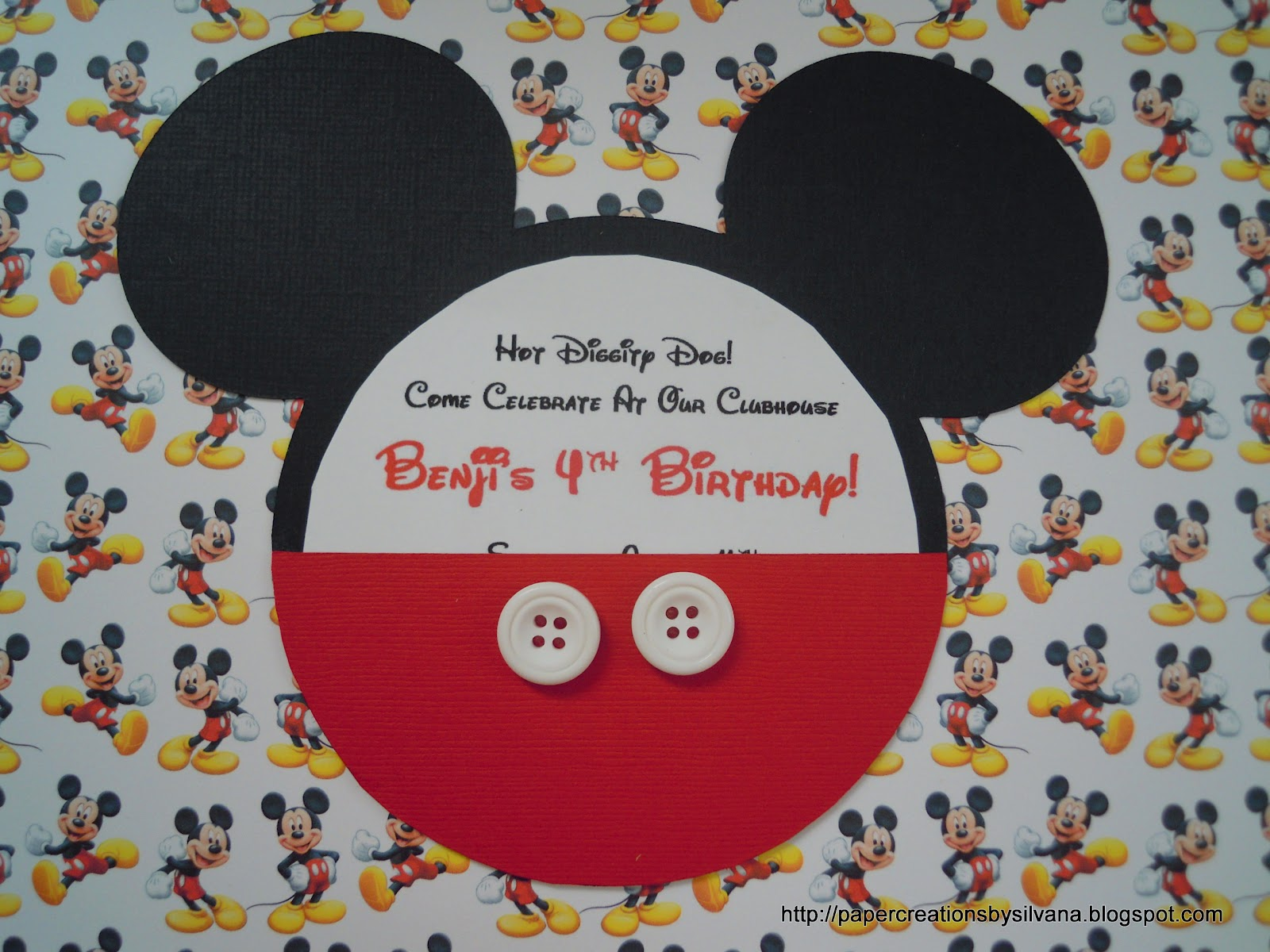 HOT DIGGITY DOG!!!! Mickey Mouse Birthday Invitations and tags