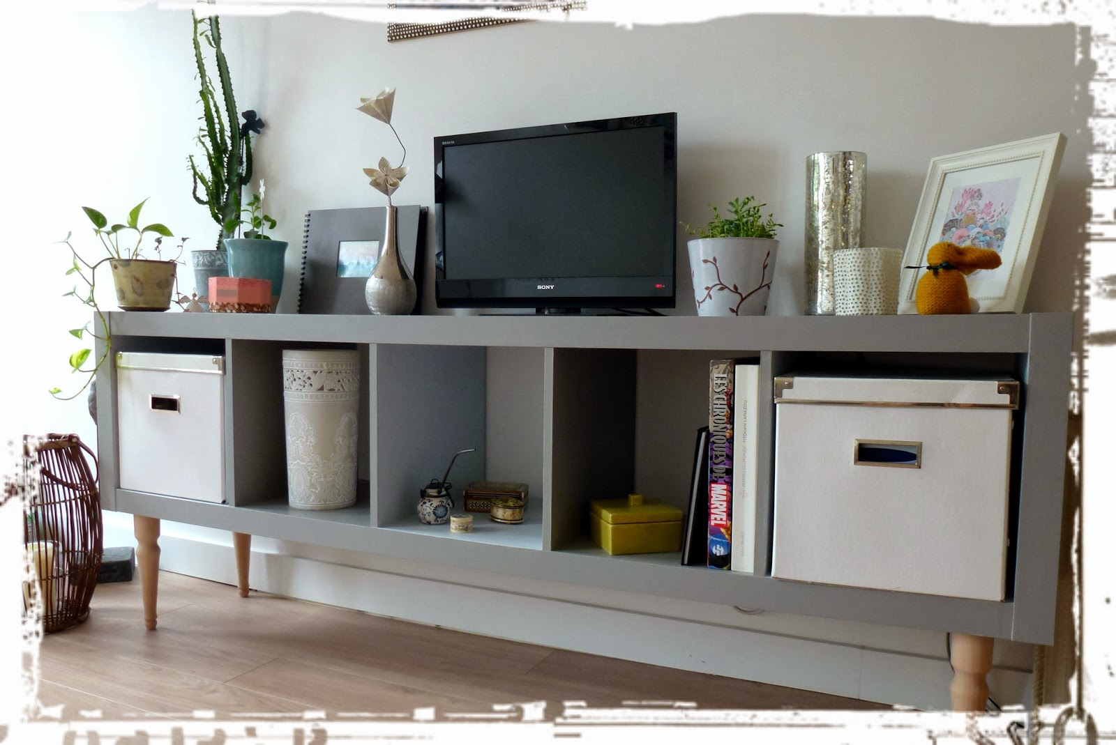 Meuble Tv Kallax Artzein Com # Customiser Meuble Ikea Cube