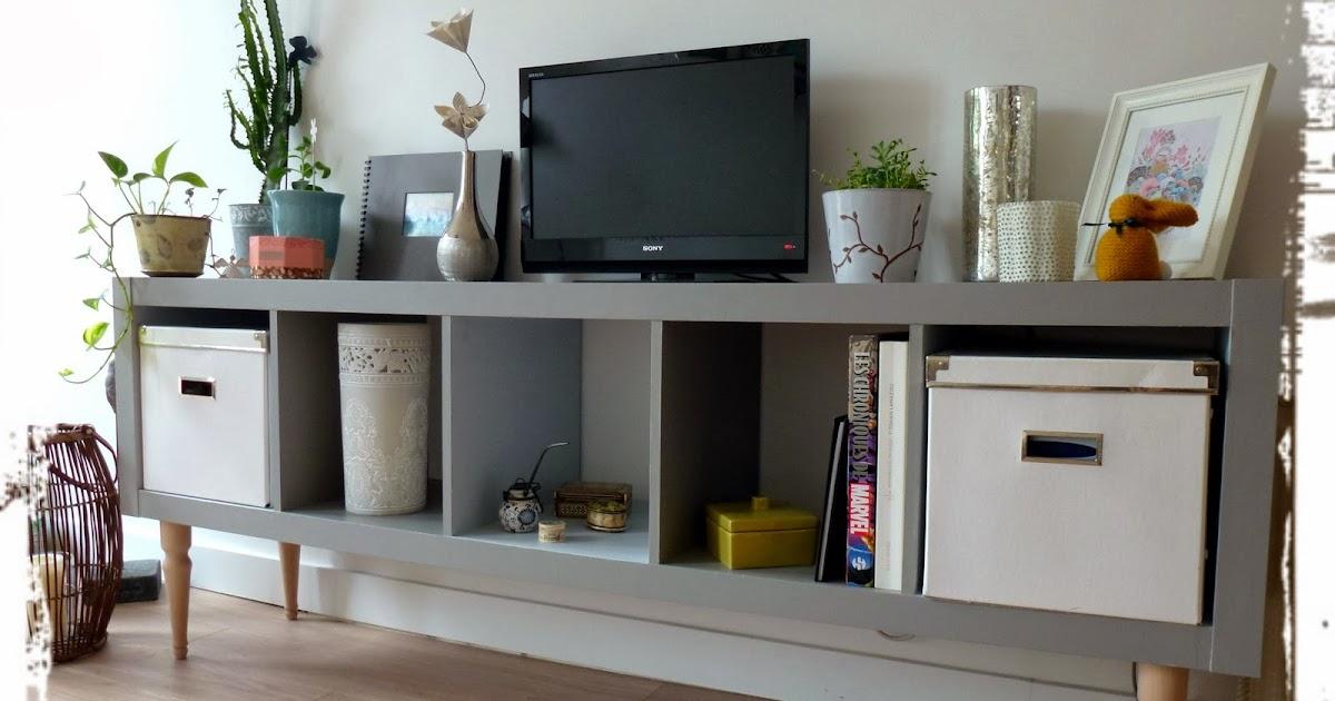 Une fille du temps une nouvelle vie pour un meuble ikea - Mueble kallax ikea ...
