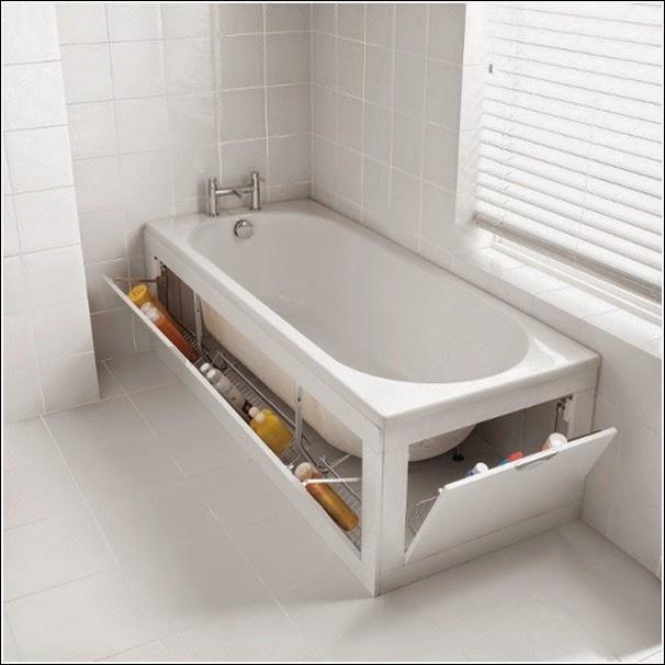 almacenamiento oculto bañera