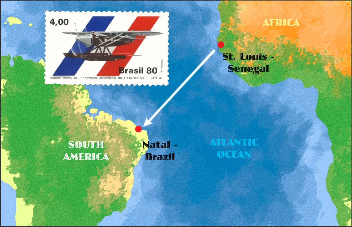 Saint Louis Senegal to Natal Brazil, January 4, 1934