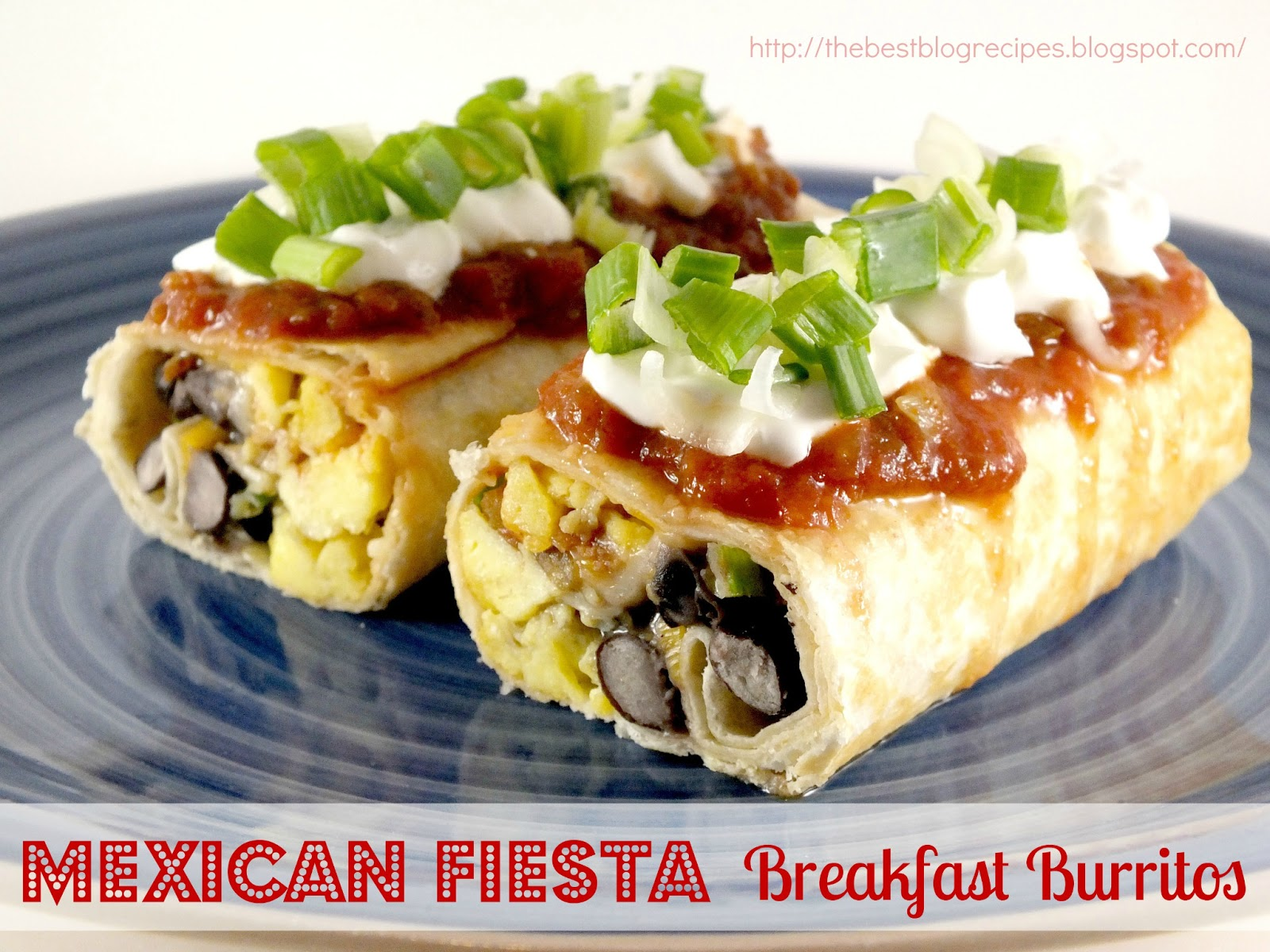 The Best Blog Recipes: Mexican Fiesta Breakfast Burritos