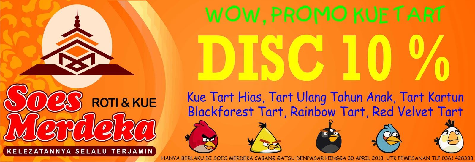 Promo Kue Tart Ulang Tahun Di Soes Merdeka Gatot Subroto Denpasar Bali
