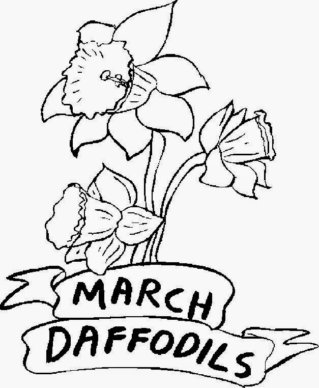 March Coloring Sheets