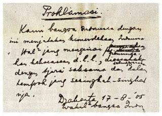 Sejarah Proklamasi Kemerdekaan Indonesia 17 Agustus 1945