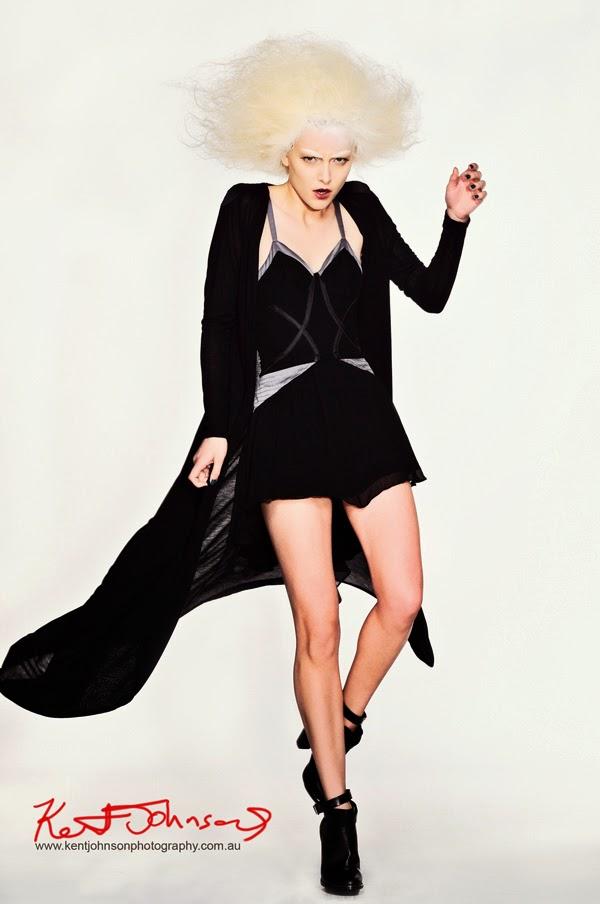 Creative fashion photography in the studio - Sydney photographer Kent Johnson.