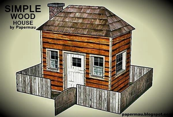 Simple wood house free building paper model papermodels for Models of homes to build