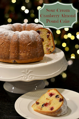 Sour Cream Cranberry-Almond Pound Cake
