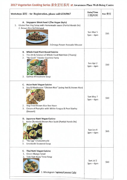 2017 Vegan Culinary & Wholefood Nutrition classes by Vinitha