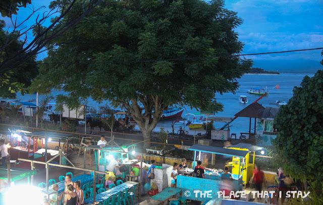 Indonesia - Lombok - Gili Trawangan - Le Petit Gili - Night Market - View from the balcony
