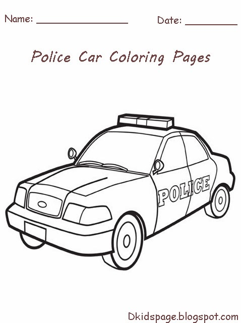 Free Printable Police Car Coloring