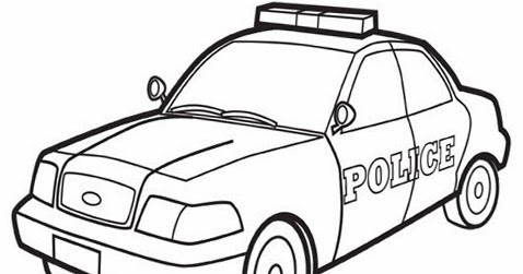kids page  police car coloring pages